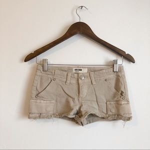 🎃 3/$25 Garage Cargo Low Rise Short Shorts Tan 🎃